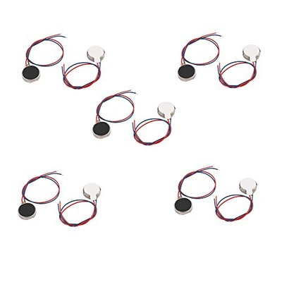 BestTong 10PCS 10mmx2.7mm Mini Tiny Vibration Motors 1.5V 3V Flat Coin Button-Type Micro DC Tablet Pager Mobile Cell Phone Vibrating Motor 1027
