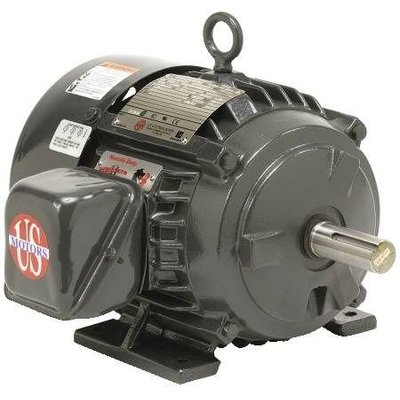 US Motors Hostile Duty TEFC H5P1D, 3-Phase, 5 HP, Hostile Duty, 3520 RPM Motor, TEFC